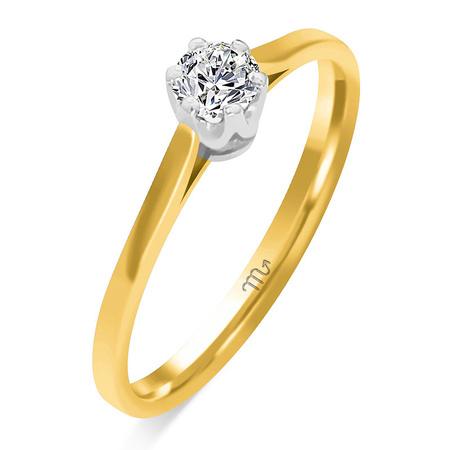 Pierścionek zaręczynowy z brylantami 0,585 (1)