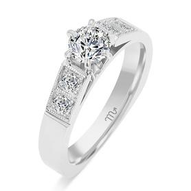 Pierścionek zaręczynowy z brylantami 0,585